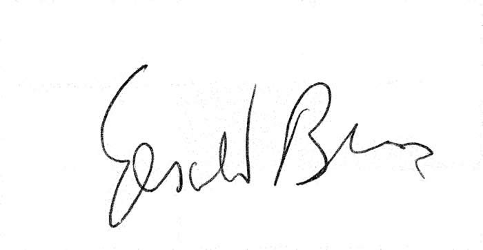 Gerald Burns signature